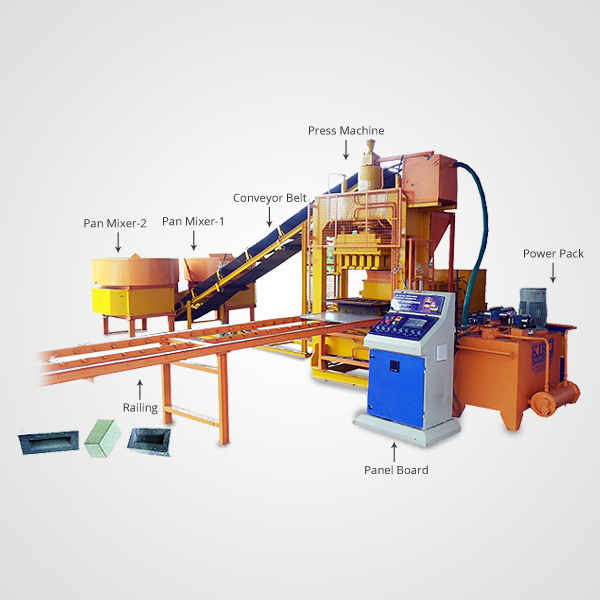 Fully Automatic Fly Ash Bricks Machine